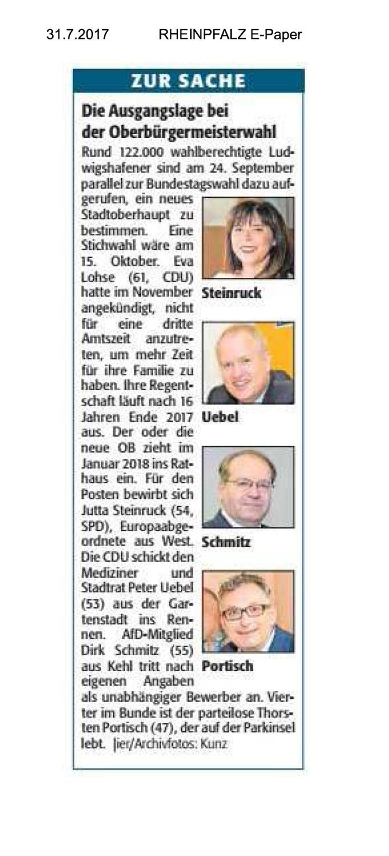 Oberbürgermeisterwahl in Ludwigshafen